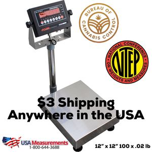 """12"""" x 12"""" Bench Scale NTEP Approved 100 x .02 lbs for Sale in Ontario, CA"""