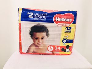 $7 Huggies Snug & Dry Diapers for Sale in Pittsburgh, PA