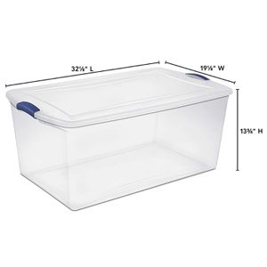 Large Plastic Storage Tote Container Clear Stackable Box 4 Set for Sale in North Miami, FL