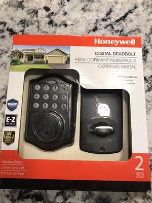 Honeywell digital deadbolt door lock oil rubbed bronze new for Sale in Sumner, WA