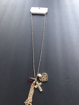 Gold charm necklace for Sale in Chandler, AZ