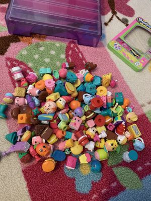 Shopkins lot with case and carrier for Sale in Colorado Springs, CO