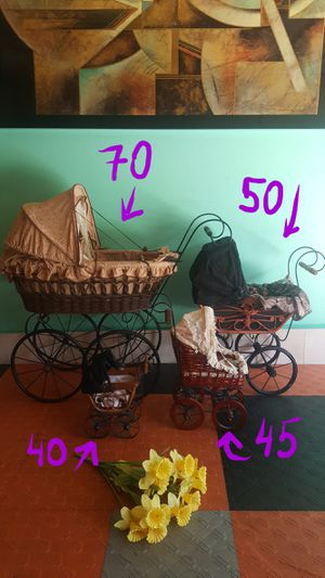 4 Antique Carriages, Vintage Strollers. Photographer's and Collector's Dream! for Sale in San Diego, CA