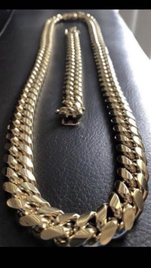 Brand new cuban link necklace and bracelet for Sale in Redondo Beach, CA