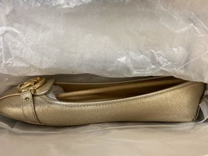 Michael Kors Mk metallic leather moc flats Slip-on | Brad New w Box Authentic| Size 10 & 7 available for Sale in Seattle, WA