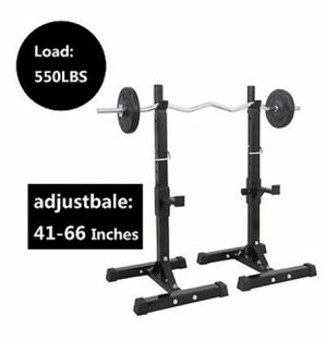 Workout Rack Adjustable Sturdy Steel Barbell Gym Home For Weights Bodybuilding for Sale in Sparks, NV
