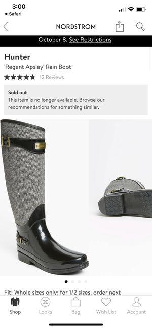 Hunter 'Regent Apsley' Rain Boot -women's size 5 for Sale in Seattle, WA