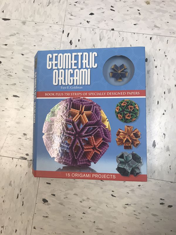 Geometric Origami book and kit by Faye Goldman - hardcover