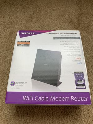 Netgear AC1600 WiFi Cable Modem Router for Sale in Oceanside, CA