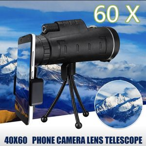 HD Ajustable Waterproof 40x60 Focus Zoom Mini Monocular Cell Phone Telescope Camera Lens Telescope for Outdoor Camping Traveling for Sale in Minneapolis, MN