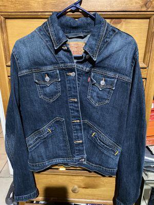 Levi denim jean jacket women's large for Sale in Albuquerque, NM