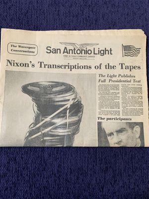 Nixon watergate transcripts 1974 newspaper for Sale in San Antonio, TX