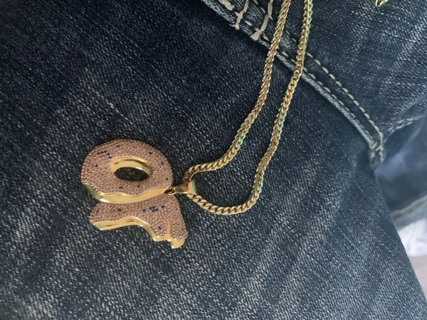 king ice x odd future of pendant gold necklace