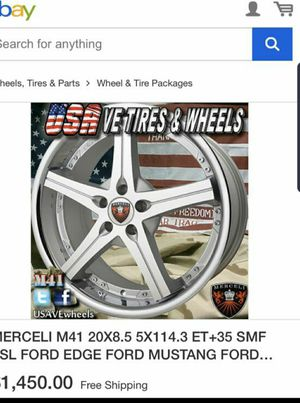 20×8.5 114.3 Trade for 18 & 19 give offert tires god condition !! for Sale in MD, US