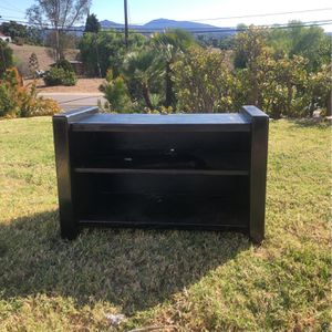 Small Black Storage Unit / Tv Counsel MOVING - Must Go Today for Sale in Escondido, CA