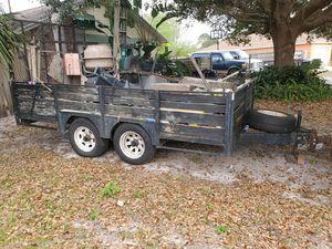 6½x12 heavy duty tandem trailer for Sale in Deltona, FL
