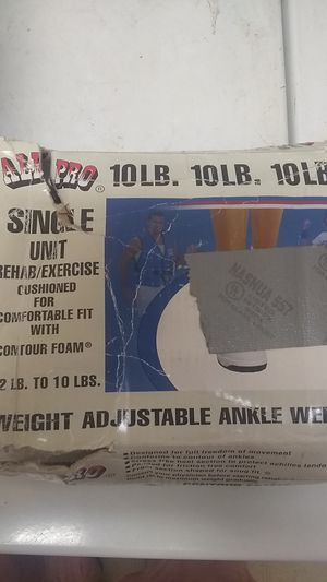 All pro single unit (extra weight bars) adjustable ankle weight for Sale in Farmersville, CA