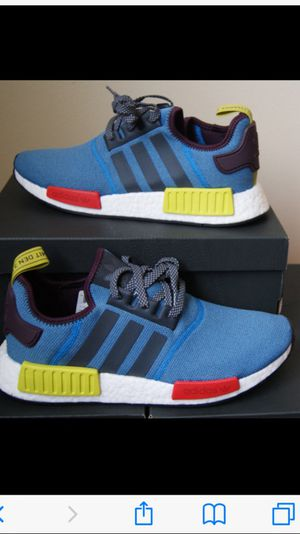 Vila x adidas NMD Cerulean/Bright Red/Shock Green/White super exclusive real 100% with box and receipts for Sale in Fort Lauderdale, FL