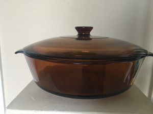 Vintage 70s Anchor Hocking Amber Brown Glass Round Casserole Disha for Sale in NW PRT RCHY, FL