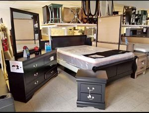 Brand New 4 or 5 piece Bedroom Set Color and bed size options available for Sale in Houston, TX