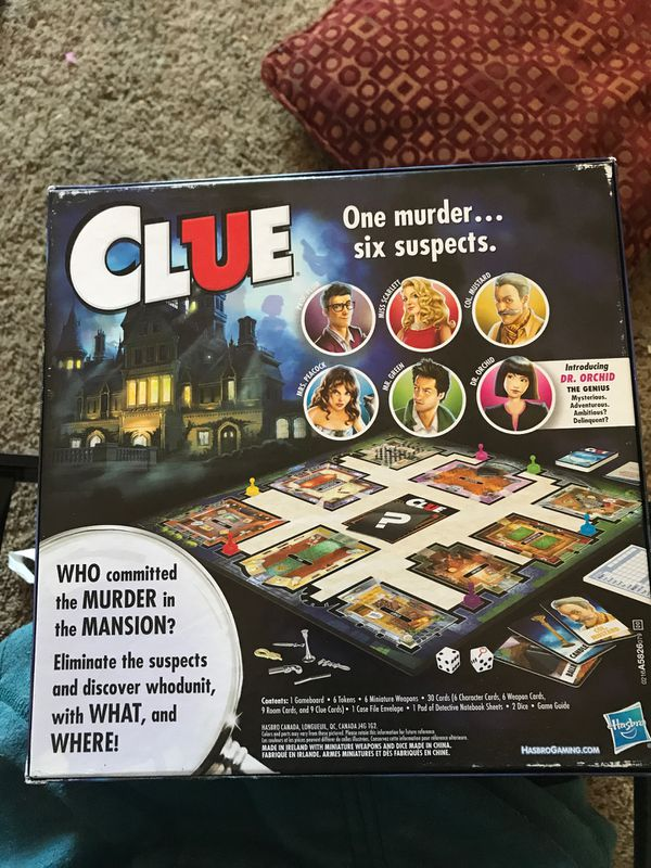 Clue the classic mystery board game
