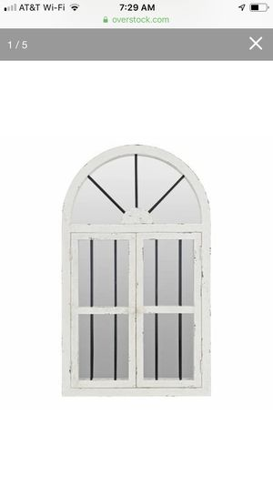 42-inch Arched Window Wall Mirror - White for Sale in Downey, CA