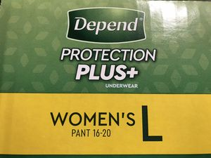Depends Women's Pant (size 16-20 / 84 count) for Sale in Norco, CA