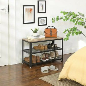 Shoe Bench, 3-Tier Shoe Rack, Storage Shelves with Seat, for Entryway, Living Room, Hallway for Sale in El Monte, CA