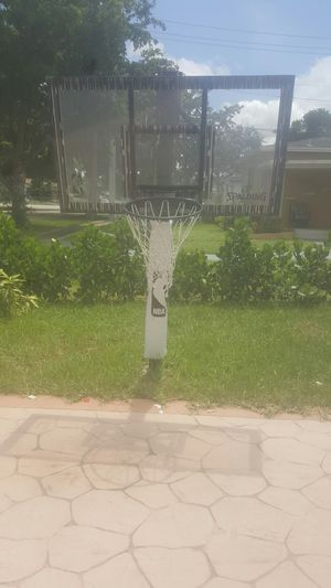 NBA professional basketball hoop i believe 10-12 feet tall for Sale in Miami, FL