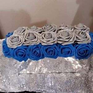 Blue/Silver Rose Box for Sale in Peoria, IL