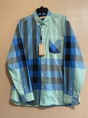 Burberry long sleeve shirt size XL firm price for Sale in Irwindale, CA