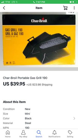 Charbroil Gas Camp stove for Sale in Frazeysburg, OH