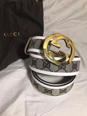 Gucci White GG Supreme Leather Belt for Sale in Queens, NY