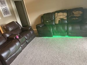 "Recliner Sofa Living Room Set Reclining Couch Sofa Chair Leather ""2Piece"" for Sale in Smyrna, TN"