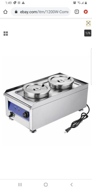 1200W Commercial Food Warmer with Dual 7L Pots Countertop Steam Soup Kitchen for Sale in Lakewood, CA
