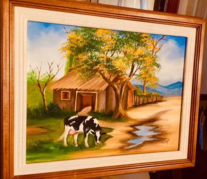 Serene Country Scenery, original oil painting by Lucy H16/12xW19/15 inch Lbs 2.5 for Sale in Chandler, AZ