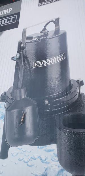 Everbilt 6/10 HP Heavy Duty Cast Iron Sewage Pump ESE60W-HD BRAND NEW for Sale in Brockton, MA