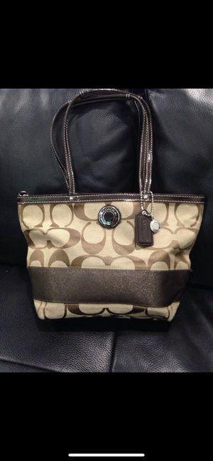 Coach Purse/ Handbag F19046 Signature Stripe Bag. Practically Brand New for Sale in Miami, FL