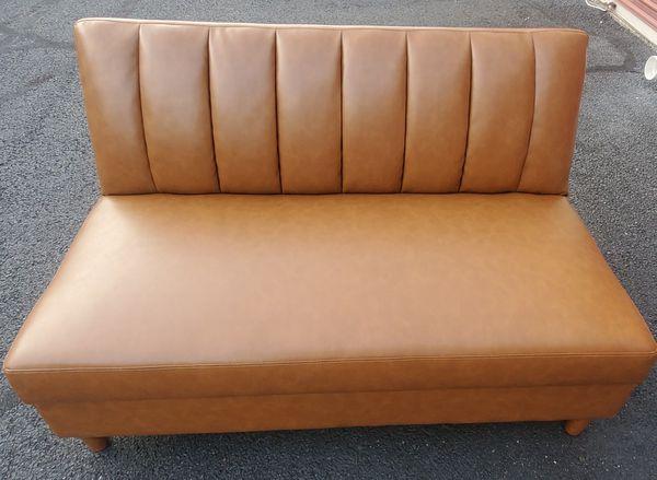 Futon sofa, Camel Faux Leather