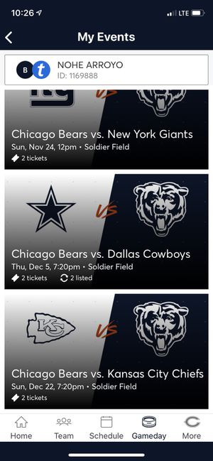 CHICAGO BEARS TICKET! for Sale in Chicago, IL