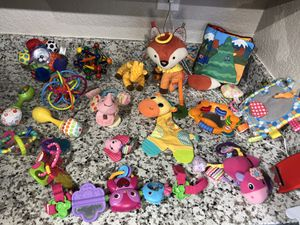 Variety of infant and baby toys. Stroller toy as well for Sale in Tacoma, WA