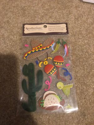 3D Mexico Scrapbooking Stickers for Sale in Plainfield, IL