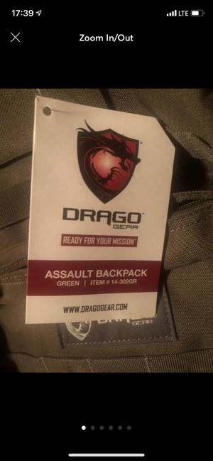Drago tactical back pack for Sale in Cockeysville, MD
