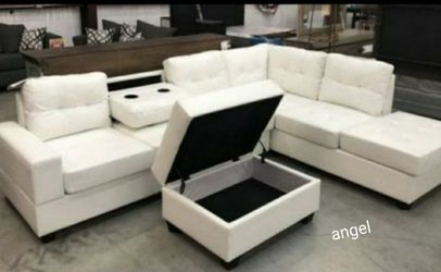 🚛SAMEDAY DELIVERY 🚚SPECIAL] Pablo White Sectional | U5300 for Sale in Silver Spring,  MD