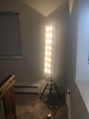 Fun industrial floor lamp for Sale in Anchorage, AK