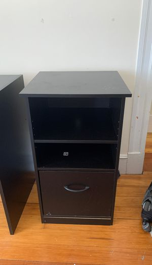 Free set: desk and night table for Sale in Medford, MA