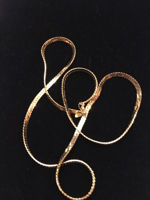 """Vintage Monet gold plated flat chain 28"""" long for Sale in Norwalk, CA"""
