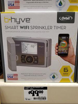 Bhyve smart wi fi sprinkler system 6 zone for Sale in Fresno, CA