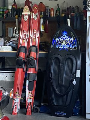 Skis and knee board for Sale in Clayton, NC
