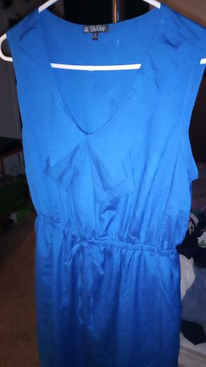 Nice bright blue summer dress extra large never worn for Sale in San Antonio, TX